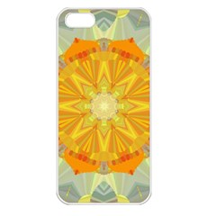 Sunshine Sunny Sun Abstract Yellow Apple Iphone 5 Seamless Case (white)