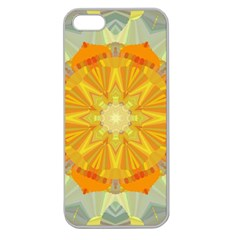 Sunshine Sunny Sun Abstract Yellow Apple Seamless Iphone 5 Case (clear)