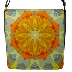 Sunshine Sunny Sun Abstract Yellow Flap Messenger Bag (S)