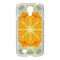 Sunshine Sunny Sun Abstract Yellow Samsung Galaxy S4 I9500/ I9505 Case (white)