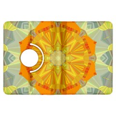 Sunshine Sunny Sun Abstract Yellow Kindle Fire HDX Flip 360 Case
