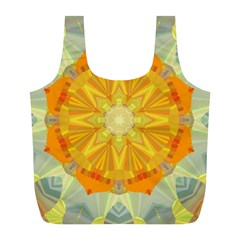 Sunshine Sunny Sun Abstract Yellow Full Print Recycle Bags (l)