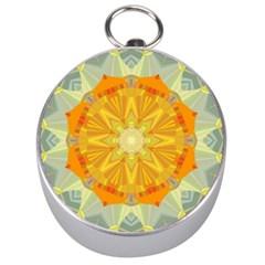 Sunshine Sunny Sun Abstract Yellow Silver Compasses