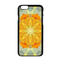 Sunshine Sunny Sun Abstract Yellow Apple Iphone 6/6s Black Enamel Case