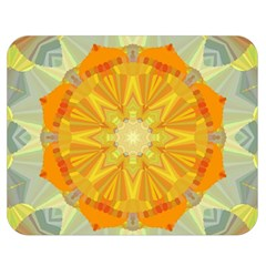 Sunshine Sunny Sun Abstract Yellow Double Sided Flano Blanket (Medium)