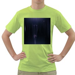 Abstract Dark Stylish Background Green T-Shirt