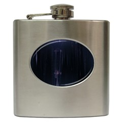 Abstract Dark Stylish Background Hip Flask (6 oz)