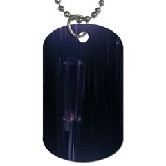 Abstract Dark Stylish Background Dog Tag (two Sides)