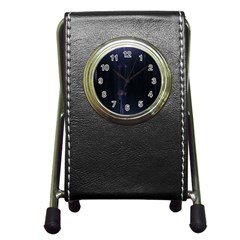 Abstract Dark Stylish Background Pen Holder Desk Clocks