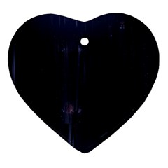 Abstract Dark Stylish Background Heart Ornament (Two Sides)