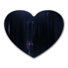 Abstract Dark Stylish Background Heart Mousepads