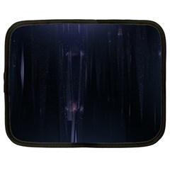 Abstract Dark Stylish Background Netbook Case (XL)