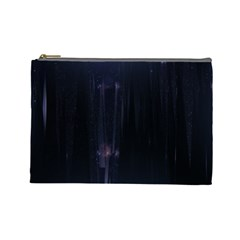 Abstract Dark Stylish Background Cosmetic Bag (Large)