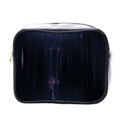 Abstract Dark Stylish Background Mini Toiletries Bags