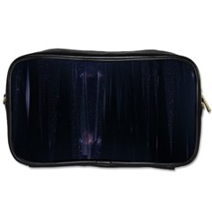 Abstract Dark Stylish Background Toiletries Bags 2-Side