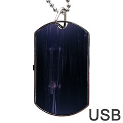 Abstract Dark Stylish Background Dog Tag Usb Flash (two Sides)