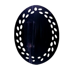 Abstract Dark Stylish Background Oval Filigree Ornament (Two Sides)