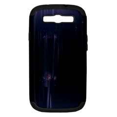 Abstract Dark Stylish Background Samsung Galaxy S Iii Hardshell Case (pc+silicone)