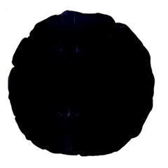 Abstract Dark Stylish Background Large 18  Premium Round Cushions