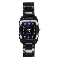 Abstract Dark Stylish Background Stainless Steel Barrel Watch