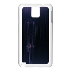 Abstract Dark Stylish Background Samsung Galaxy Note 3 N9005 Case (white)