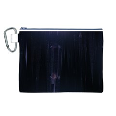 Abstract Dark Stylish Background Canvas Cosmetic Bag (L)