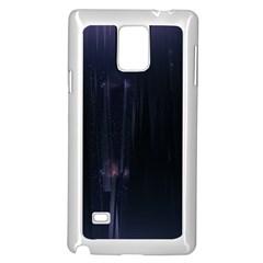 Abstract Dark Stylish Background Samsung Galaxy Note 4 Case (White)