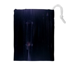 Abstract Dark Stylish Background Drawstring Pouches (Extra Large)