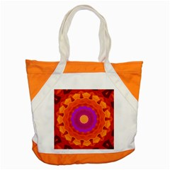 Mandala Orange Pink Bright Accent Tote Bag