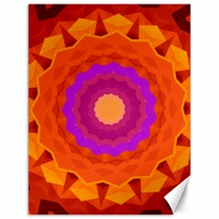 Mandala Orange Pink Bright Canvas 12  x 16