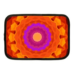 Mandala Orange Pink Bright Netbook Case (medium)