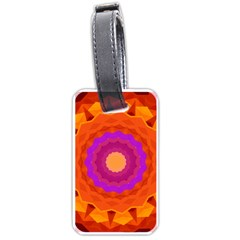 Mandala Orange Pink Bright Luggage Tags (one Side)