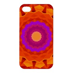 Mandala Orange Pink Bright Apple iPhone 4/4S Hardshell Case