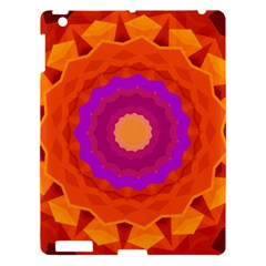 Mandala Orange Pink Bright Apple iPad 3/4 Hardshell Case