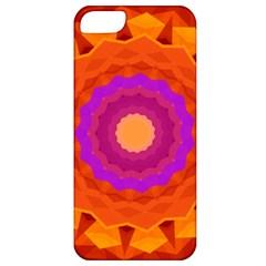 Mandala Orange Pink Bright Apple iPhone 5 Classic Hardshell Case