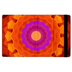 Mandala Orange Pink Bright Apple Ipad 2 Flip Case