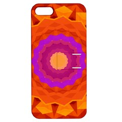 Mandala Orange Pink Bright Apple iPhone 5 Hardshell Case with Stand