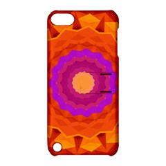 Mandala Orange Pink Bright Apple Ipod Touch 5 Hardshell Case With Stand
