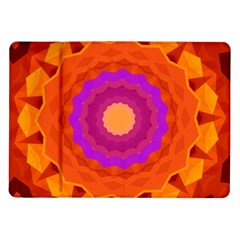 Mandala Orange Pink Bright Samsung Galaxy Tab 10 1  P7500 Flip Case