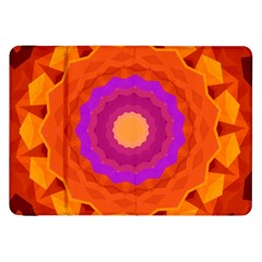 Mandala Orange Pink Bright Samsung Galaxy Tab 8 9  P7300 Flip Case