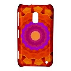 Mandala Orange Pink Bright Nokia Lumia 620