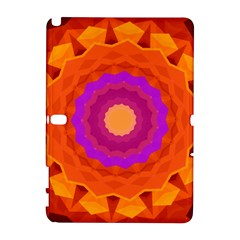 Mandala Orange Pink Bright Galaxy Note 1