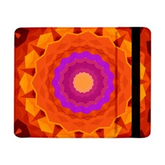 Mandala Orange Pink Bright Samsung Galaxy Tab Pro 8 4  Flip Case