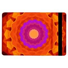 Mandala Orange Pink Bright Ipad Air Flip