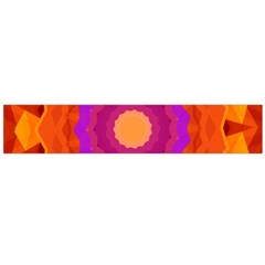 Mandala Orange Pink Bright Flano Scarf (Large)