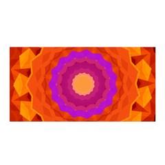 Mandala Orange Pink Bright Satin Wrap