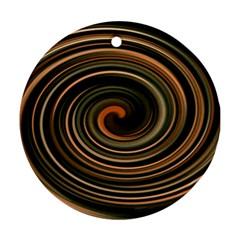 Strudel Spiral Eddy Background Ornament (round)