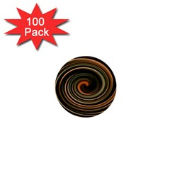 Strudel Spiral Eddy Background 1  Mini Buttons (100 Pack)