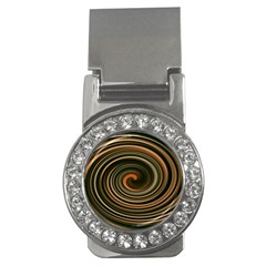 Strudel Spiral Eddy Background Money Clips (CZ)