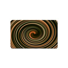 Strudel Spiral Eddy Background Magnet (name Card)